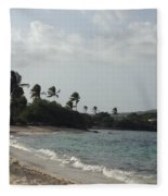 Sapphire Palms Fleece Blanket