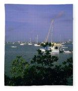 Sarasota Bay Harbor Fleece Blanket