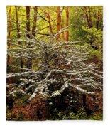 Sargent Crabapple Tree Fleece Blanket