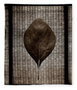 Sassafras Leaves With Wicker Fleece Blanket