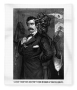 Satan Tempting John Wilkes Booth Fleece Blanket
