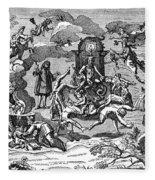 Satan With Cavorting Dancers, 18th Fleece Blanket