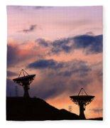 Satellite Sunset Fleece Blanket