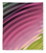 Satin Movements Pink II Fleece Blanket