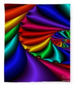 Satin Rainbow Fleece Blanket