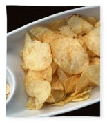 Satisfy The Craving With Chips And Dip Fleece Blanket