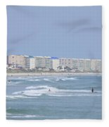 Saturday At The Beach Fleece Blanket