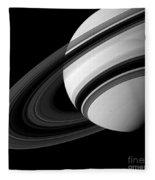 Saturn And Tethys Fleece Blanket