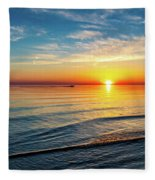 Sauble Beach Sunset 4 Fleece Blanket