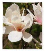 Saucer Magnolia Fleece Blanket