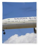 Saudi Arabian Airlines Boeing 777 Fleece Blanket