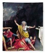 Saul & Witch Of Endor Fleece Blanket