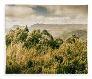 Savage River Lookout, Tarkine, Tasmania Fleece Blanket