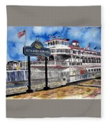 Savannah River Queen Boat Georgia Fleece Blanket
