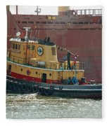 Savannah River Tug Fleece Blanket