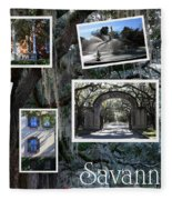 Savannah Scenes Collage Fleece Blanket