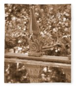Savannah Sepia - Finials Fleece Blanket