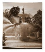 Savannah Sepia - Forsyth Fountain Fleece Blanket