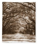 Savannah Sepia - Glorious Oaks Fleece Blanket