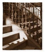 Savannah Sepia - Stairs Fleece Blanket