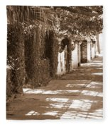 Savannah Sepia - Sunny Sidewalk Fleece Blanket