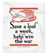 Save A Loaf A Week - Help Win The War Fleece Blanket