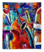 Sax And Bass Fleece Blanket
