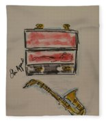 Saxophone Fleece Blanket