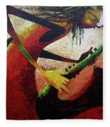 Saxophonist  Fleece Blanket