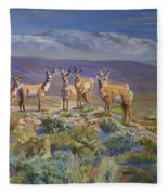 Say Cheese Antelope Fleece Blanket