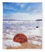 Scallop Shell On The Beach - Impressions Fleece Blanket