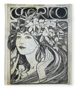 scan 153 Alphonse Maria Mucha Fleece Blanket