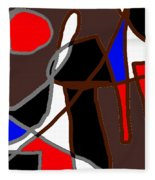 Scandal In Bohemia Original Abstract Expressionism Art Painting Fleece Blanket