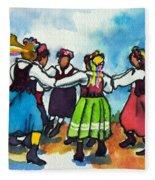 Scandinavian Dancers Fleece Blanket