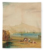 Scarborough Town And Castle Fleece Blanket