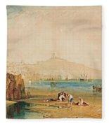 Scarborough Town And Castle Fleece Blanket