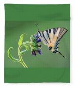 Scarce Swallowtail Fleece Blanket