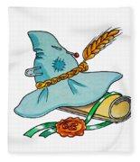 Scarecrow Hat From Wizard Of Oz Fleece Blanket