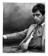 Scarface 2 Fleece Blanket