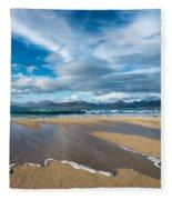 Scarista Beach Isle Of Harris Fleece Blanket