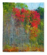 Scarlet Autumn Burst Fleece Blanket