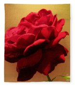 Scarlet Flamenco Fleece Blanket