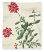 Scarlet Flowered Vervain Fleece Blanket