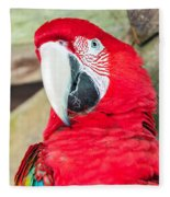 Scarlet Macaw Face Fleece Blanket