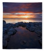 Scarlet Pools Fleece Blanket