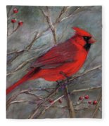 Scarlet Sentinel Fleece Blanket