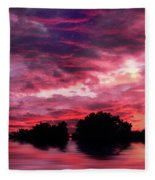 Scarlet Skies Fleece Blanket