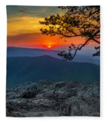 Scarlet Sky At Ravens Roost Fleece Blanket