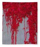 Scarlet Squiggle Fleece Blanket