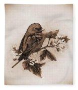 Scarlet Tanager - Tint Fleece Blanket